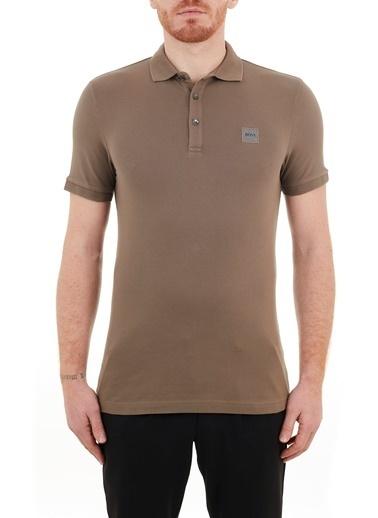 Hugo Boss  Slim Fit Pamuklu Düğmeli Polo T Shirt Erkek Polo 50378334 250 Bej